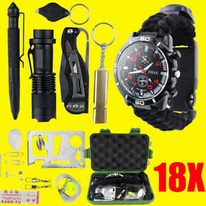18-IN-1-Outdoor-SOS-Emergency-Equipment-Kit-Camping-Hiking-Survival-Gear-Sets