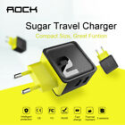 ROCK Sugar 1/2/4 USB Wall Phone Charger Fast Travel Home Adapter Charger EU Plug