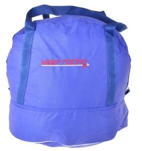 keep racing Helmtasche,blau,f. Kart- & Motorradhelme,Reißverschluss,Innenfutter
