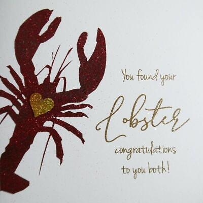 Greeting Card You Found Your Lobster Congratulations To You Both Ne20 Ebay