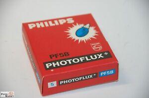 Blitzbirnen-Antique-Philips-PF5B-Photoflux-5er-Pack-New-Blitz-Bulbs-Vintage