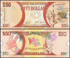 Guyana $50 Dollars, 2016, P-NEW, UNC