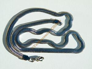 Collier-Chaine-Acier-Serpentine-Maille-Serpent-Plat