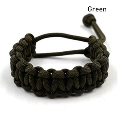 Bracelets Survival Emergency Bracelet Paracord Cord Camping Hiking Tool