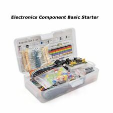 Electronic Component Basic Starter Kit With830 Tie Points Breadboard Power Supply