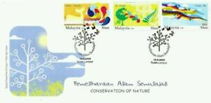 SJ-Conservation-Of-Nature-Malaysia-Environment-Green-2009-stamp-FDC