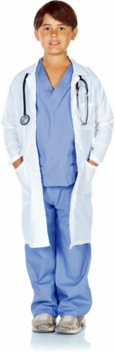 Details about  /Doctor Scrubs Lab Coat Shirt Pants Occupation Halloween Costume Child Boys