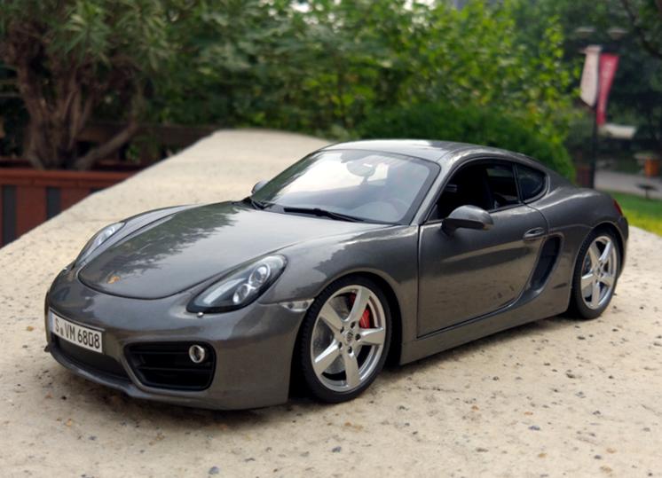1/18 Porsche fabricante original, modelo de aleación de coche Porsche Cayman S