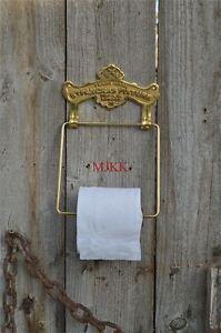 Antique-solid-brass-ST-PANCRAS-FIXTURE-toilet-roll-holder-wall-mounted-SBP