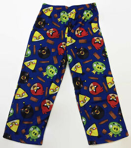 AME-Sleepwear-Angry-Birds-Boys-Blue-Pajama-Bottoms-Size-4