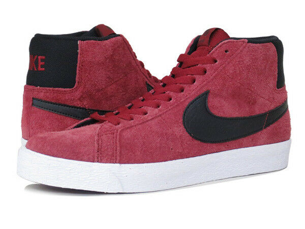 Nike Mens Blazer SB Premium SE Team Red/Black-White Leather