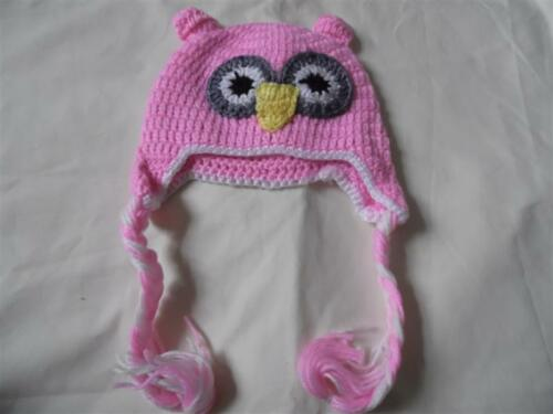 New Design Cute Kids//Baby//Girl//Boy Owl Hat Knitted Beanie wooly Winter Hats Cap