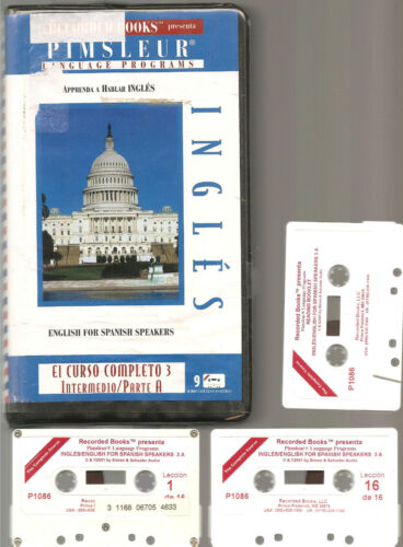 ESL Pimsleur INGLES ENGLISH FOR SPANISH SPEAKERS 3A Tapes FOREIGN LANGUAGE