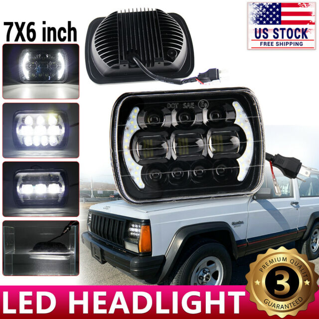 "105W 7X6/"" 5x7/"" CREE LED Headlight DRL For Chevrolet Jeep Cherokee XJ Wrangler YJ"
