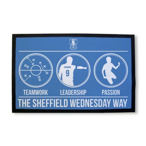 Sheffield Wednesday F.C Personalised Door Mat WEDNESDAY WAY