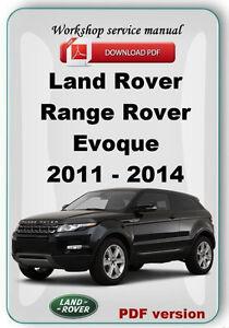 land rover range rover evoque 2011 2012 2013 2014 factory