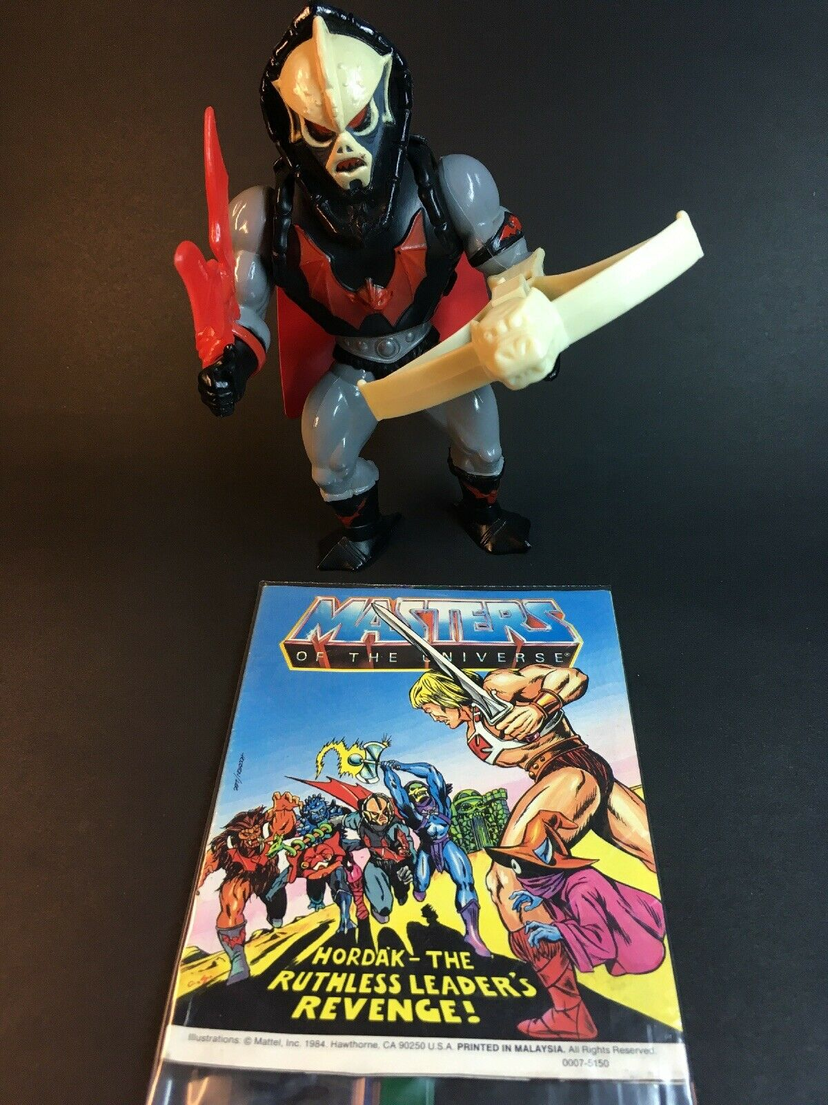 VTG Original Hordak He-Man Mattel MOTU Action Figure  + Comic A-119
