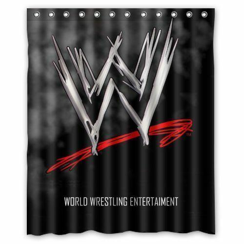 Gift NEW WWE World Wrestling Smackdown Shower Curtain Custom 60X72 Inches