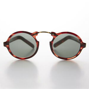 Great Gatsby Vintage Sunglass Round Aviator Tortoise Frame - Grant
