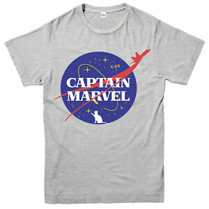 Captain-Marvel-T-Shirt-Superhero-Action-Funny-Nasa-Spoof-Adult-amp-Kids-Tee-Top