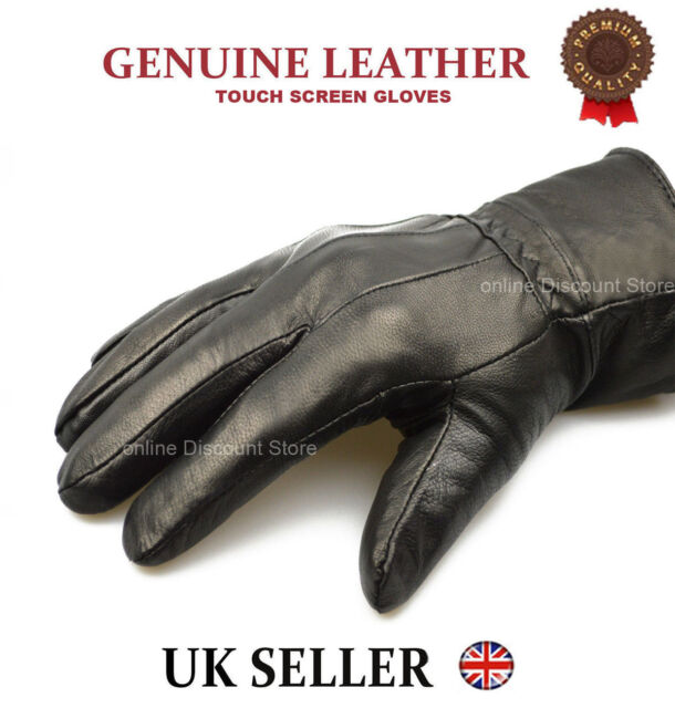 Mens Genuine 100/% Real Leather Gloves Driving Good Quality Warm Large Medium UK