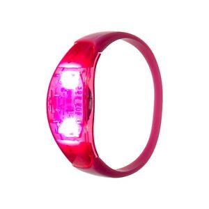 Red Sound Activated LED Bracelets Light Up Flashing Voice Control Bangle Band
