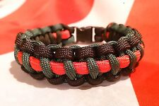 The Royal Green Jackets ABF The Soldiers Charity Inspired Handmade Bracelet