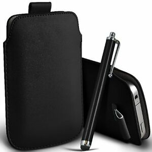 PU-Leather-Pull-Tab-Pouch-Case-amp-Large-Pen-for-Acer-Liquid-Z520