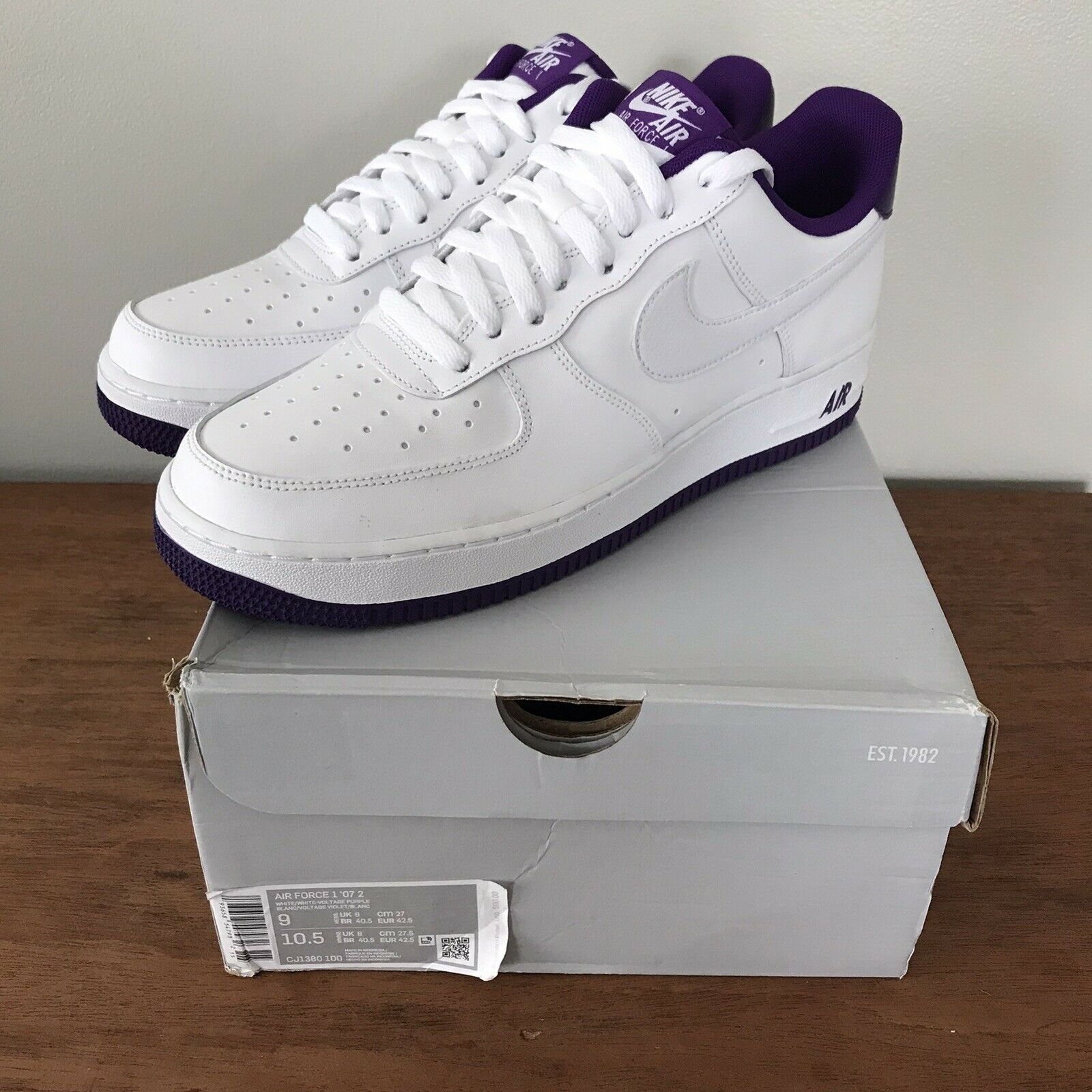 Size 9 - Nike Air Force 1 Low Voltage Purple 2020 for sale online ...