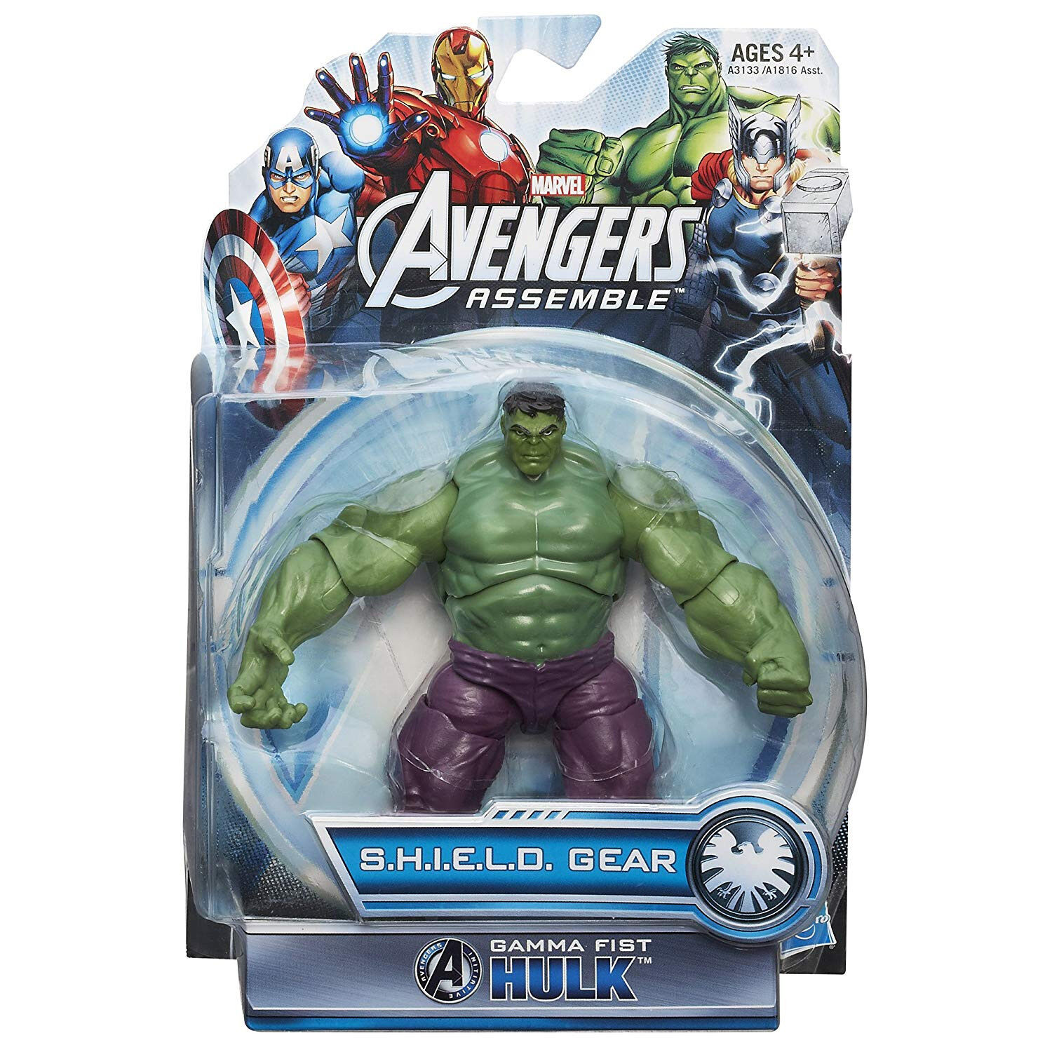 Gamma Fist Hulk Avengers Assemble S.H.I.E.L.D. Gear Action Figure