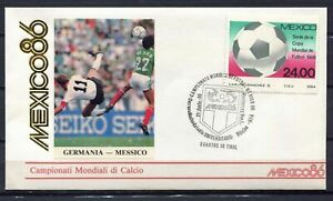 S13592-Mexico-21-6-1986-FDC-Fifa-Wc-Football-Germany-Mexico