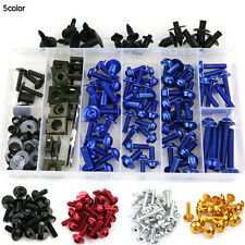 Kawasaki Ninja ZX6R 2005 2006 Complete Fairing Bolt Kit Body Screws Blue