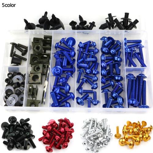 For Honda ST1300ABS 2005-12 CNC Complete Fairing Bolts Kits Bodywork Screws Blue