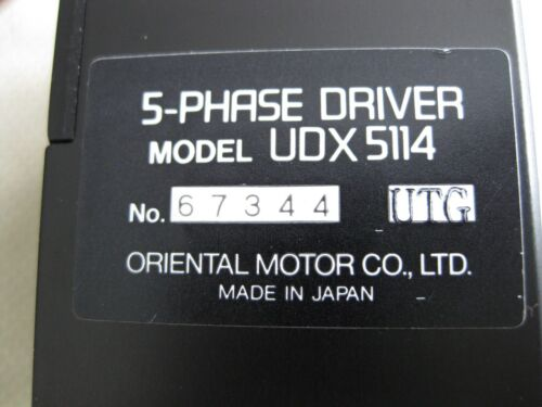 Super Vexta 5-Phase Stepping Motor Driver Model UDX5114 Oriental Motor Stepper