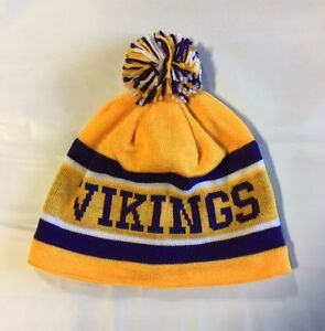 Minnesota Vikings Knit Beanie Winter Hat Toque Skull Cap NEW Pom Pom ... c3813cf08
