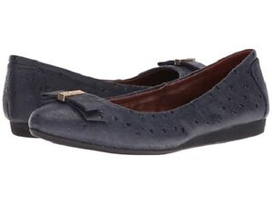 fd132d15a0b1 Brand New Cole Haan Women s Elsie Ballet II Blazer Blue Leather Flat ...