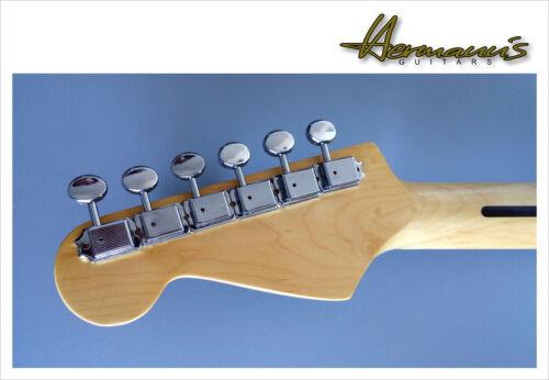 Kluson Style Gitarren Mechaniken Vintage Guitar Tuners 8mm Buchsen 6 in Reihe