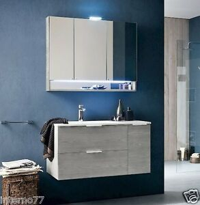 Mobile da bagno moderno b201 30 dim l96xp51 con specchio contenitore ebay - Specchio per bagno moderno ...