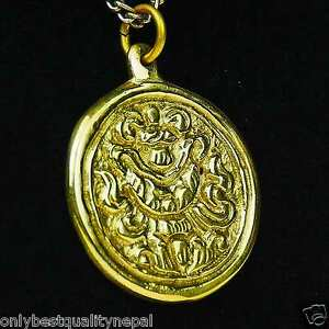 Pendentif-Bouddhisme-or-Amulette-en-Laiton-Porte-Bonheur-Talisman-Porte-Bonheur