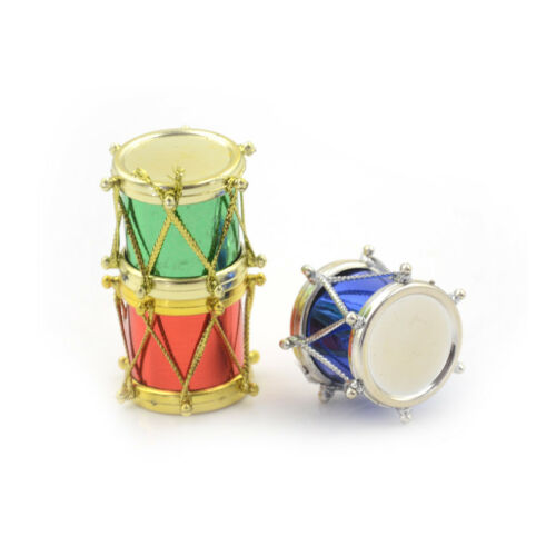 Doll Instrument Drum Musical Toy Children Kids Gift Mini Dollhouse Decor Toys Hu