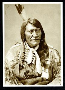 971-Postcard-Two-Strike-Sioux-War-Chief-1875-Photo-Alexander-Gardner-NEW