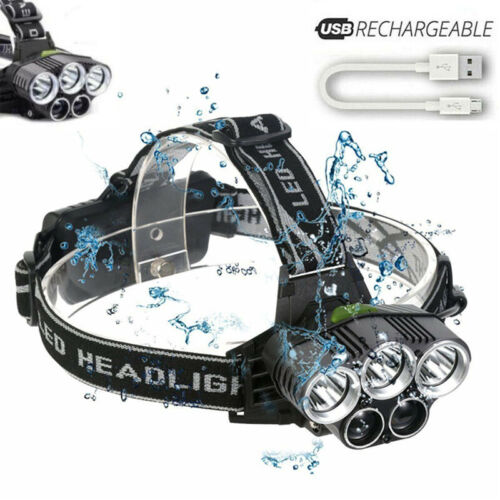 Details about  /Lot High Power 350000LM LED Headlamp Headlight Torch Rechargeable Flashlight