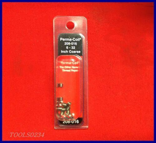 12  USA HELI Perma Coil Brand 208-016 Screw Thread Repair Inserts 6-32 PK
