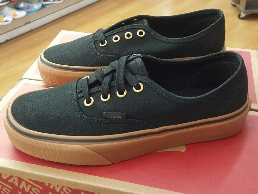 VANS AUTHENTIC CANVAS BLACK RUBBER VN000TSVBXH MEN US SZ 7