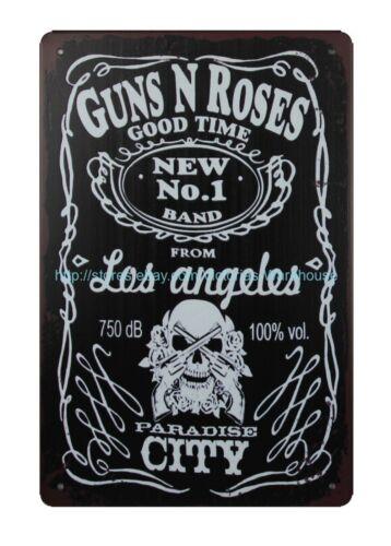 laser lodge cafe plaques Guns n Roses Good Time metal tin sign