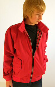 CAMPBELL-COOPER-NUOVO-BAMBINI-MOD-SOUL-scooter-giacca-harrington-Rosso