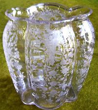 """CAMBRIDGE GLASS CO. PORTIA CRYSTAL RARE #1228 9"""" TALL OVAL PILLOW VASE!"""