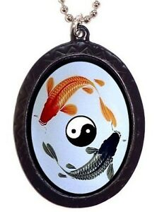 Yin yang koi pendant necklace asian art goldfish fish spiritual image is loading yin yang koi pendant necklace asian art goldfish aloadofball Image collections