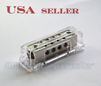 Car Audio Power/ground Distribution Block 2x 0/2ga In To 8x 8ga Out Pd15n