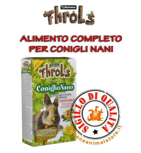 Alimento Completo per Conigli Nani Throls Coniglio nano 750gr